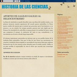 APORTES DE GALILEO GALILEI AL HELIOCENTRISMO