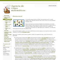 Historia inicial - Agencia de viajes matemáticos