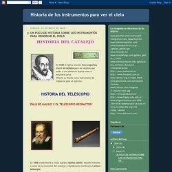Historia de los instrumentos para ver el cielo: mayo 2009