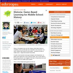 Historia: Game-Based Learning for Middle School History