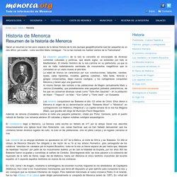 Historia de Menorca - Resumen de la densa historia de la isla - Menorca.org