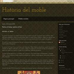 Història del moble: Pintura al tremp i pintura al fresc