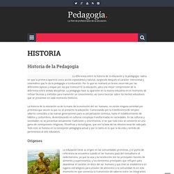 Pedagogía » Historia