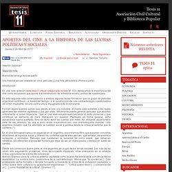 APORTES DEL CINE A LA HISTORIA DE LAS LUCHAS POLÍTICAS Y SOCIALES « Tesis 11
