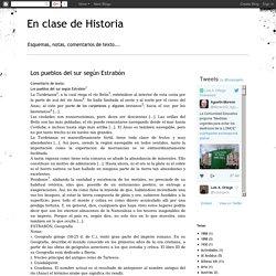 En clase de Historia: Los pueblos del sur según Estrabón