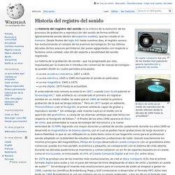 Historia del registro del sonido