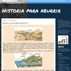 RESPUESTA A LA MATURA PROBNA GEOGRAFÍA 2011