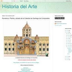 Románico: Planta y alzado de la Catedral de Santiago de Compostela