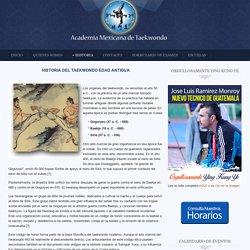 HISTORIA DEL TAEKWONDO EDAD ANTIGUA
