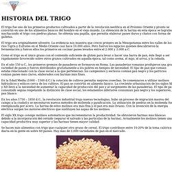 Historia del Trigo