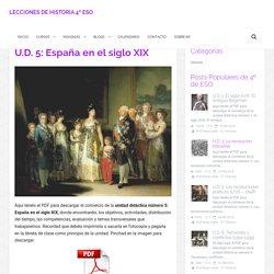 U.D. 5: España en el siglo XIX