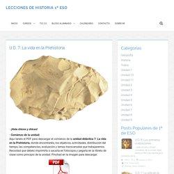 U.D. 7: La vida en la Prehistoria
