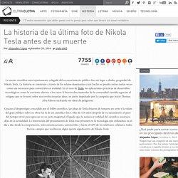 La historia de la última foto de Nikola Tesla antes de su muerte