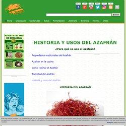 Historia y usos del Azafrán
