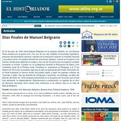 Días finales de Manuel Belgrano