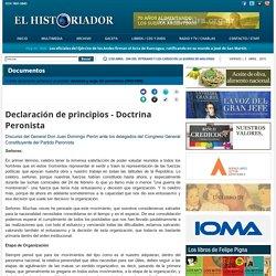 Declaración de principios - Doctrina Peronista