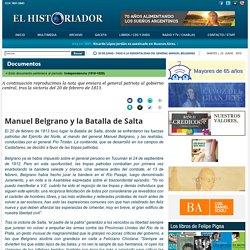 Manuel Belgrano y la Batalla de Salta