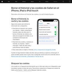 Borrar el historial y las cookies de Safari en el iPhone, iPad o iPodtouch - Soporte técnico de Apple