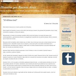 """Historias por Buenos Aires: """"El último taxi"""""""