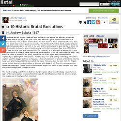 Top 10 Historic Brutal Executions list