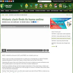 Historic clash finds its home online