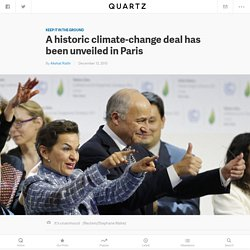 A historic climate-change deal has been unveiled in Paris