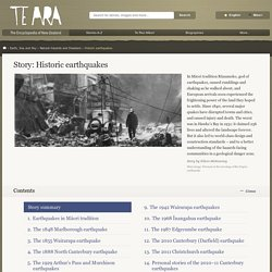 Historic earthquakes