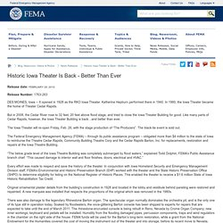 Historic Iowa Theater Is Back - Better Than Ever