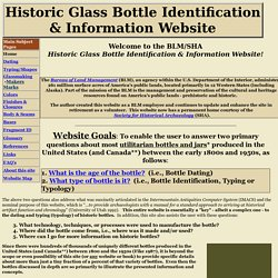 Historic Bottle Website - Homepage
