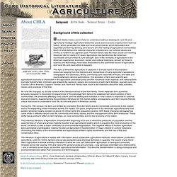 About The Core Historical Literature of Agriculture (CHLA)