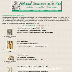 Historical Anatomies on the Web