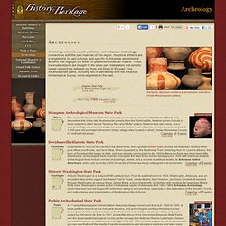 Native American artifacts - historical artifacts - Arkansas arch