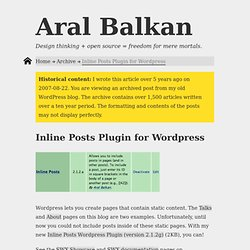 Inline Posts Plugin for Wordpress