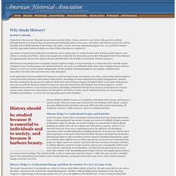 Why Study History? - American Historical Association