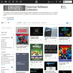 Historical Software Collection : Free Software : Download & Streaming