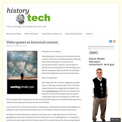 Video games as historical content