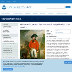 Historical Context for Pride and Prejudice by Jane Austen