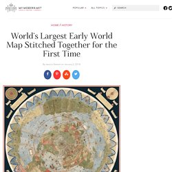 16th Century Historical Map by Urbano Monte Digitally Stitched Together