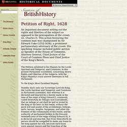 British Historical Documents: Petition of Right, 1628