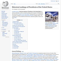 Historical rankings of Presidents of the United States