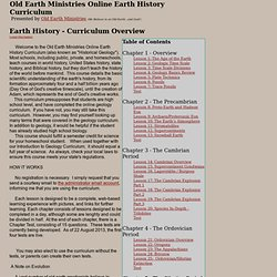 Free Online Historical Geology Curriculum