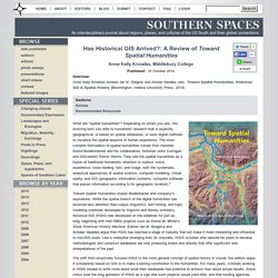 Has Historical GIS Arrived?: A Review of Toward Spatial Humanities