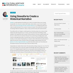 Blog Archive Using Gowalla to Create a Historical Narrative | Cultural Heritage Informatics Initiative