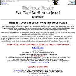 Historical Jesus or Jesus Myth: The Jesus Puzzle