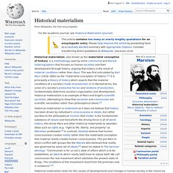 Historical materialism - Wikipedia