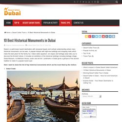 10 Best Historical Monuments in Dubai - Best Desert Safari Dubai