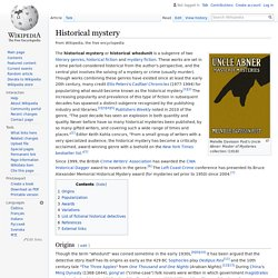 Historical mystery - Wikipedia