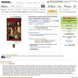 BART EHRMAN AND THE QUEST OF THE HISTORICAL JESUS OF NAZARETH - Amazon.co.uk
