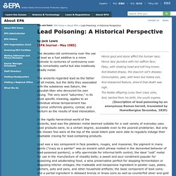 Lead Poisoning: A Historical Perspective