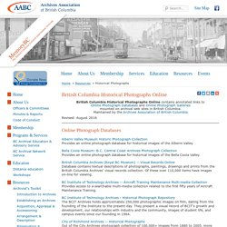 British Columbia Historical Photographs Online